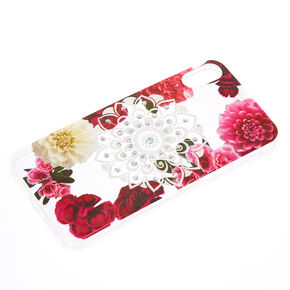Floral Bling Mandala Phone Case - Fits iPhone X/XS,