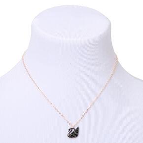 Mixed Metal Swan Pendant Necklace,
