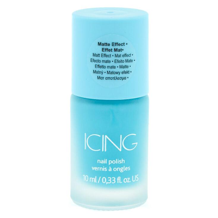 Blue Matte Nail Polish,
