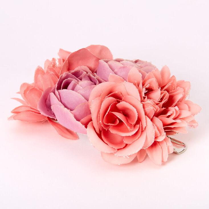 Blushing Mauve Bouquet Of Flowers Hair Clip,