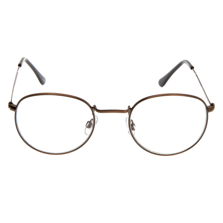 Round Clear Lens Frames - Bronze,