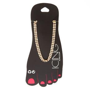 Gold Tone Rhinestone Anklet,