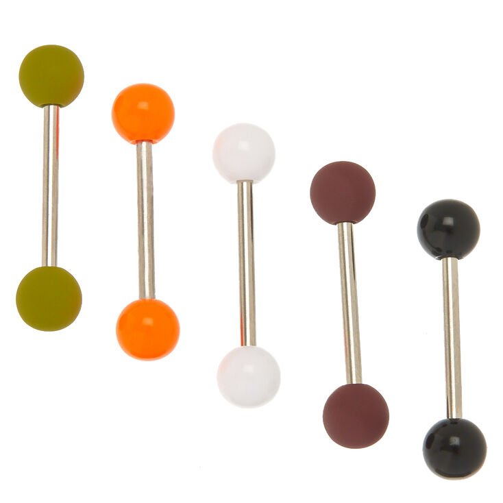 70's Matte Barbell Tongue Rings,