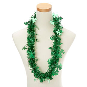 St. Patrick's Day Tinsel Necklace & Bracelet Set,