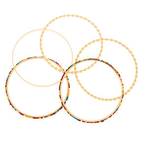 Gold Desert Bangle Bracelets - 5 Pack,