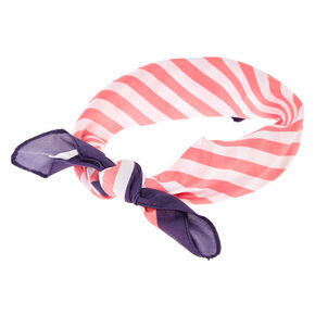 Pink & White Stripe Bandana Headwrap,