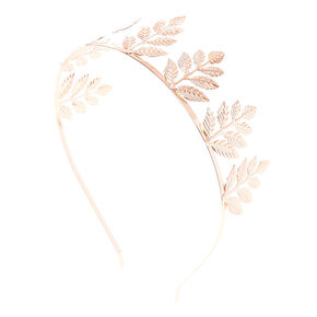 Rose Gold Tone Leaves Tiara,