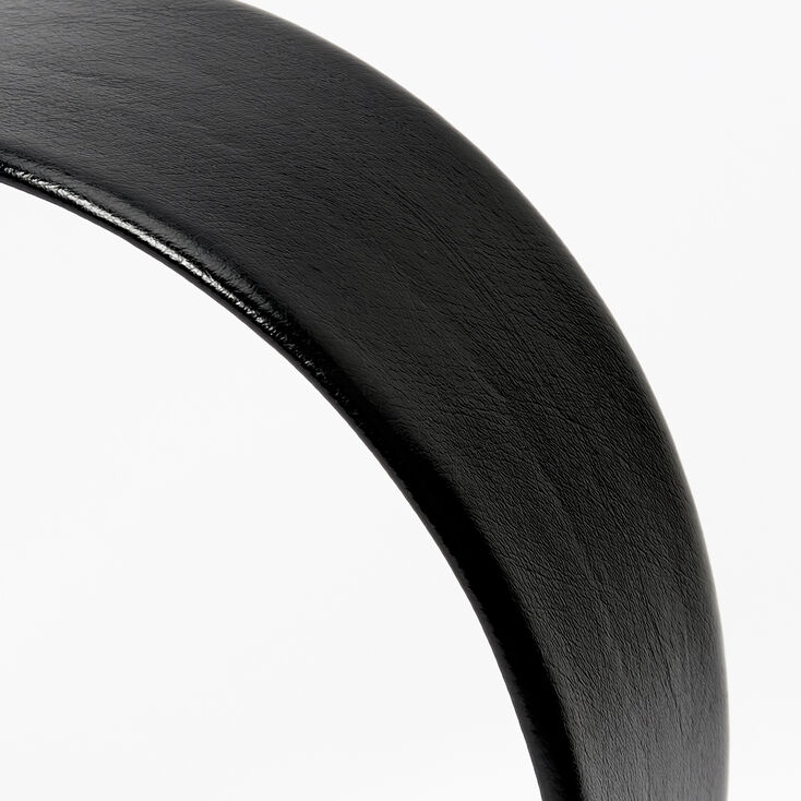 PU Wide Headband - Black,