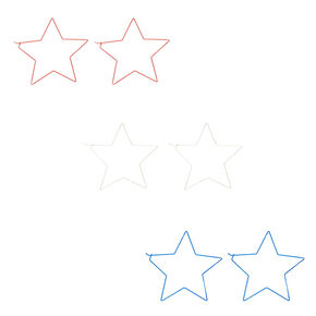 100MM Star Hoop Earrings - 3 Pack,