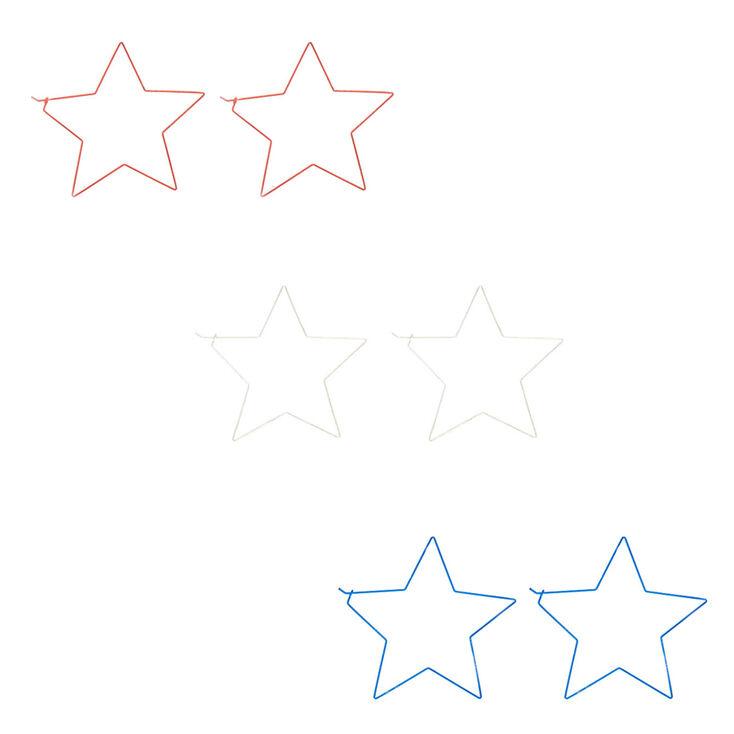 100MM Star Hoop Earrings - 3 Pack,