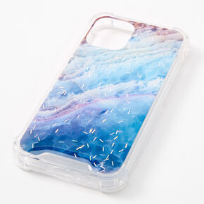 Navy Ombre Confetti Protective Phone Case - Fits iPhone 12 Mini,