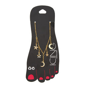 Gold Celestial Charm Anklet,