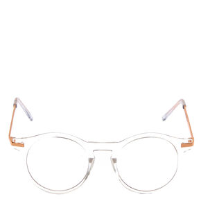 Rose Gold Round Clear Lens Frames,