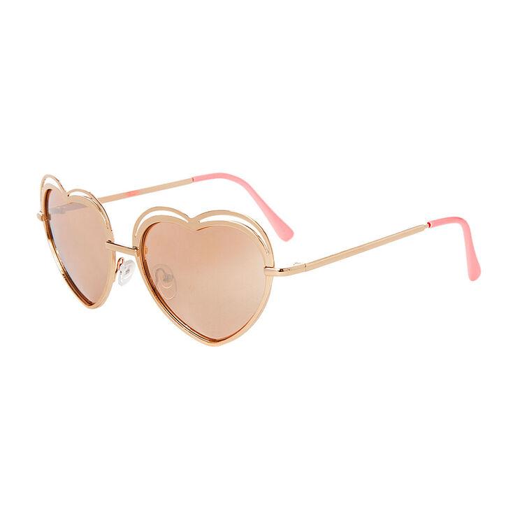 ae6246da2 Eva Rose Gold Heart Sunglasses | Icing US