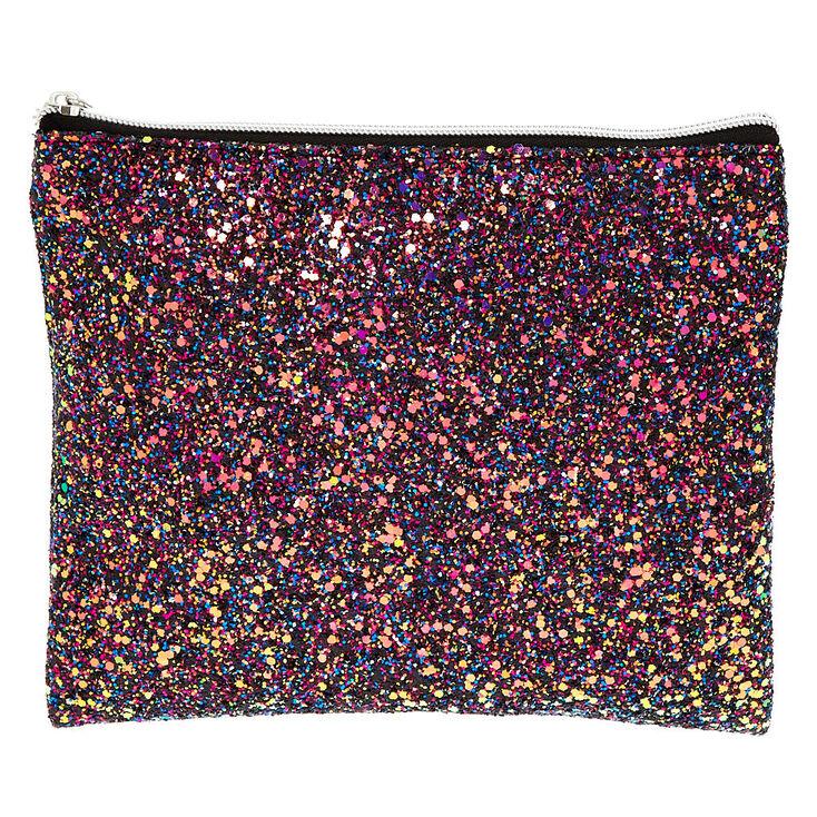 Glitter Makeup Pouch - Purple,