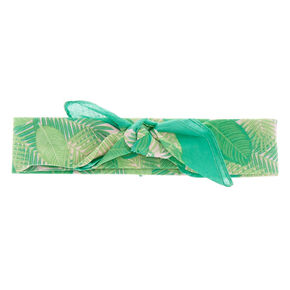 Green Leafage Bandana Headwrap,