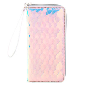 Holographic Mermaid Scallop Wristlet,