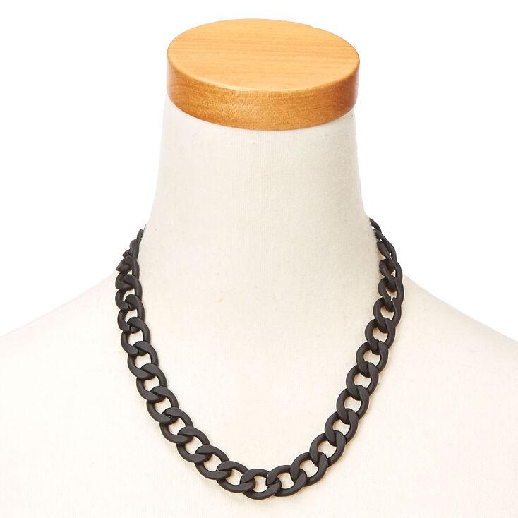 Black Matte Chain Necklace,
