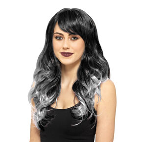 Black & Gray Long Length Wig,