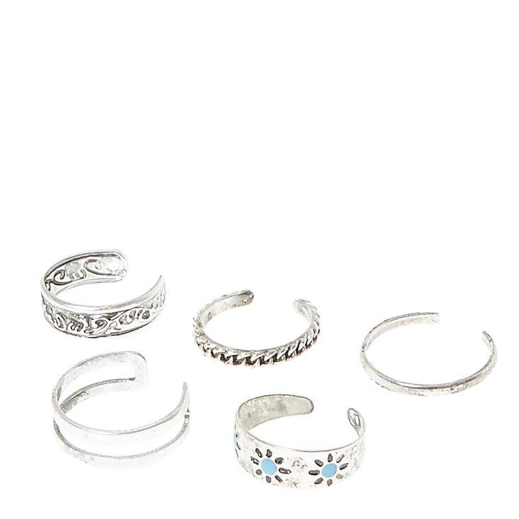Embossed Toe Ring Set,