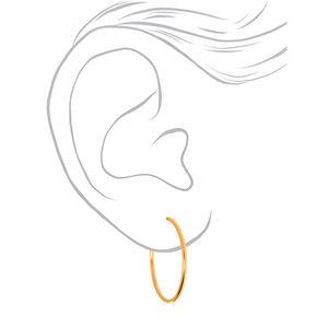Gold 40MM Clip On Hoop Earrings,