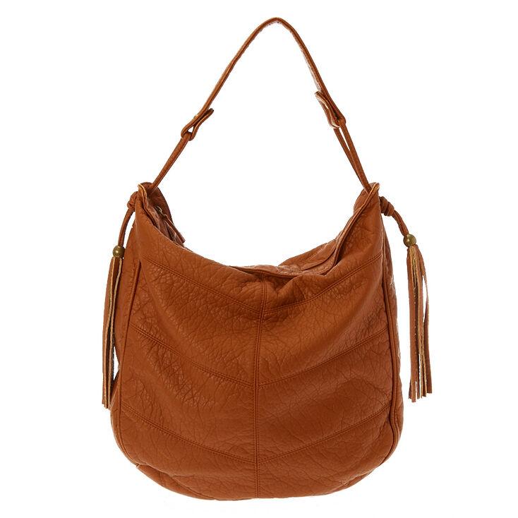 Half Moon Brown Messenger Bag,
