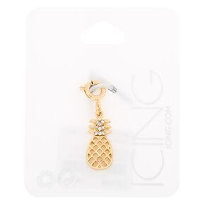 Gold Pineapple Bracelet Charm,