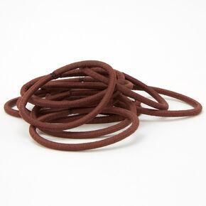 Luxe Hair Ties - Brown, 12 Pack,