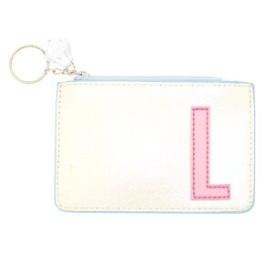 Pearlescent Initial Coin Purse - L,