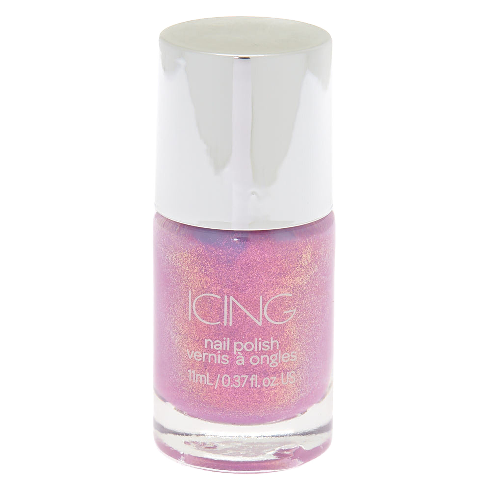 Shimmer Nail Polish - Purple Holo Glitter | Icing US