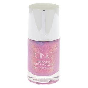Shimmer Nail Polish - Purple Holo Glitter,