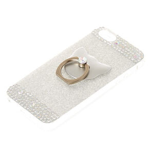 Cat Glam Finger Ring Phone Case - Fits iPhone 6/7/8,