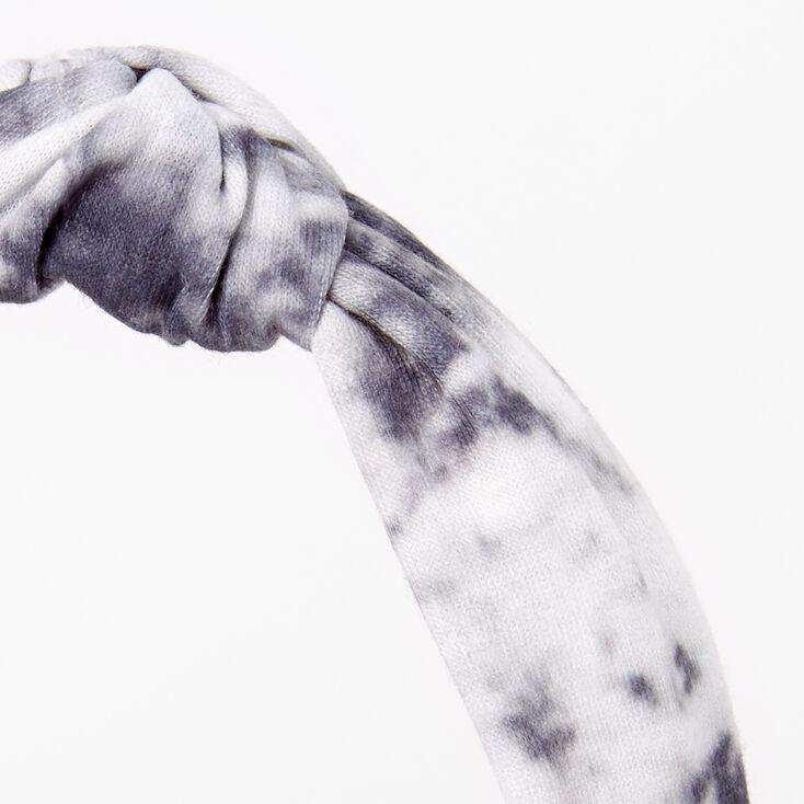Tie Dye Knotted Headband - Grey,