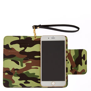 Camo & Black Cell Phone Wristlet,