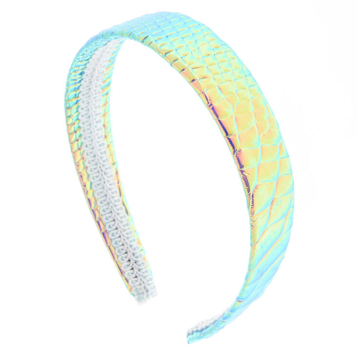 Holographic Snakeskin Headwrap,