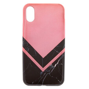 Black Marble & Rose Gold Phone Case,