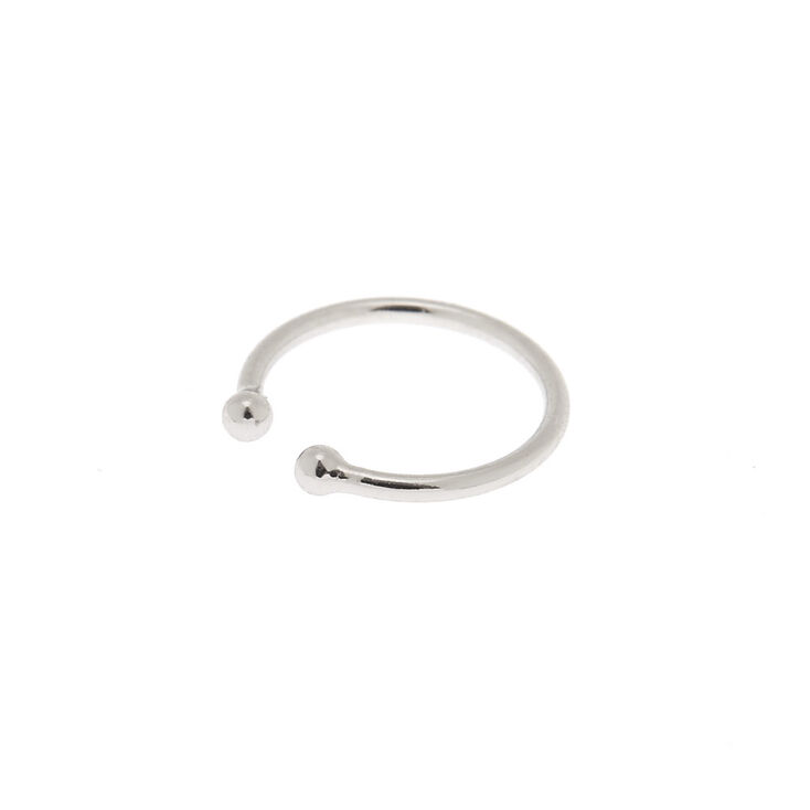 Silver Horseshoe Faux Nose Ring,