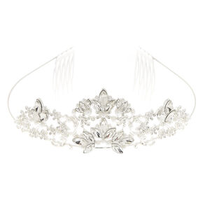 Crystal And Pearl Flower Tiara,