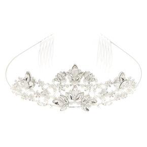 Crystal & Pearl Flower Tiara,