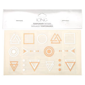 Geometric Temporary Tattoos,