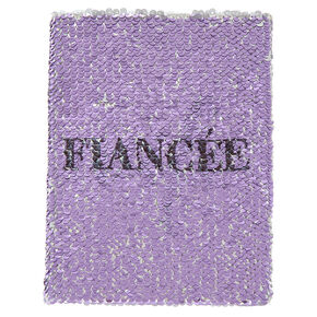 Reversible Sequin Fiance/Wife Journal - Purple,