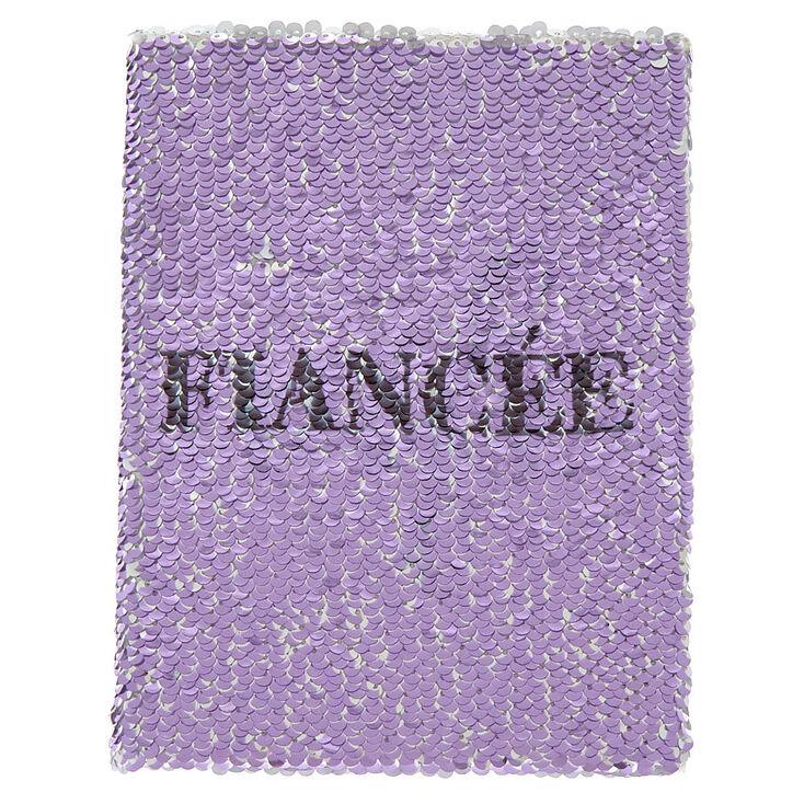 Reversible Sequin Fiancé/Wife Journal - Purple,