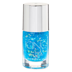 Foil Flakes Nail Polish - Blue,