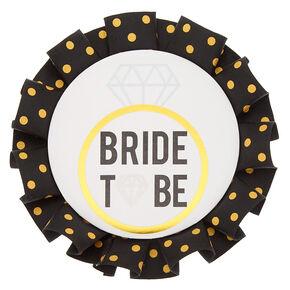 Bride to Be Polka Dot Button,