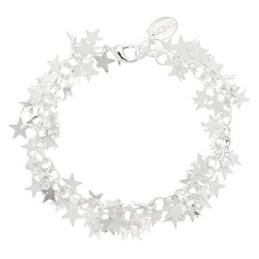 Silver Star Chain Bracelet,