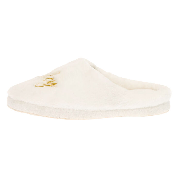Wifey Slippers - White,