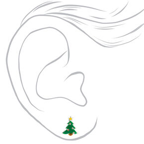 Sterling Silver Holiday Spirit Stud Earrings - 3 Pack,