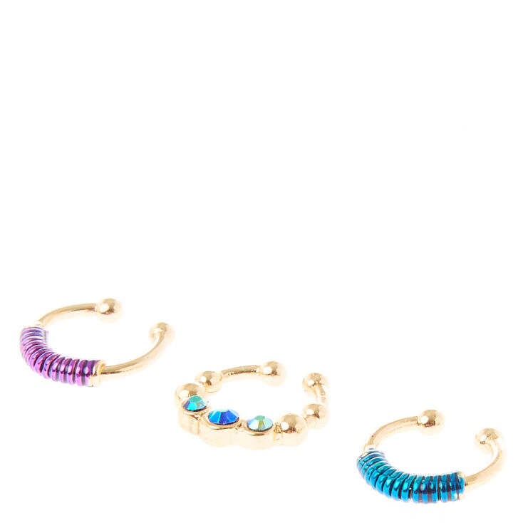 Threaded Faux Cartilage Earring,