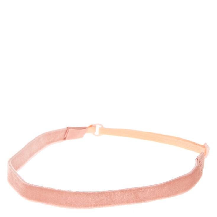 Pink Velvet Headwrap,