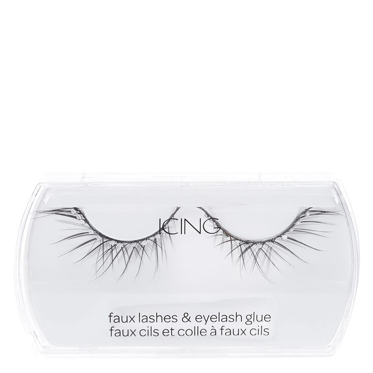 Black Criss Cross Gem Faux Lashes,